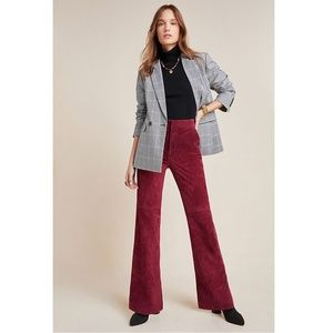 Anthropologie Carson Suede Bootcut Trousers Size 0